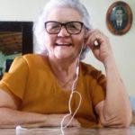 Dona Maria Brasileiro fala do lançamento do seu livro