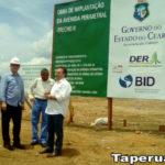 Leônidas Cristino visita trechos rodoviários em obra na cidade de Sobral