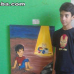 O estudante Jarlly Pereira Gonçalves mais uma vez representa a Escola Francisco Monte com seus desenhos