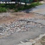 Taperuaba: Cratera enorme na principal via de acesso no bairro de Vassouras