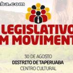 A terceira ação do Legislativo em Movimento será realizada no dia 30 de agosto em Taperuaba