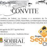 Prefeitura realizará lançamento do Projeto Segunda Chance