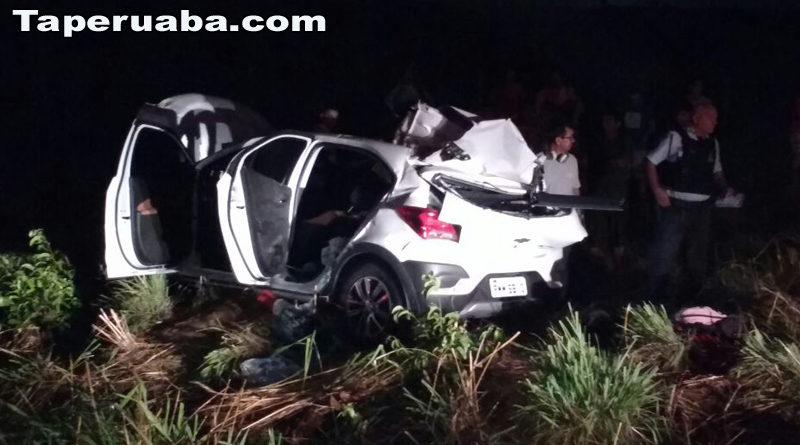 Acidente na BR 222 com duas vítimas