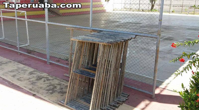 Reforma da quadra do Espaço Cultural de Taperuaba