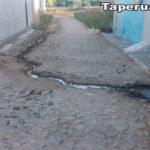Internauta denúncia esgoto no bairro da Loquinha em Taperuaba