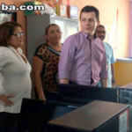 Vereadora Socorrinha Brasileiro e secretário de educação visitam escolas de Taperuaba