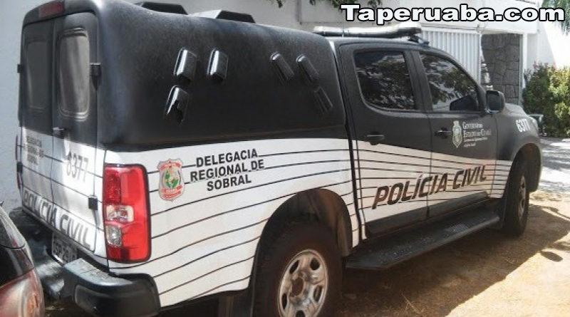 Viatura da policia Cívil de Sobral sem freio