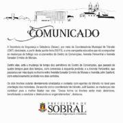 Comunicado - Trânsito de Sobral