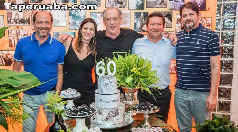 Ciro Gomes comemora aniversário de 60 anos