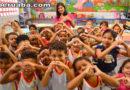 Escola de Sobral recebe Luciano Hulck da TV Globo