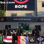 Policias militares cearenses fazem treinamento de alto risco no Bope, no Rio de Janeiro