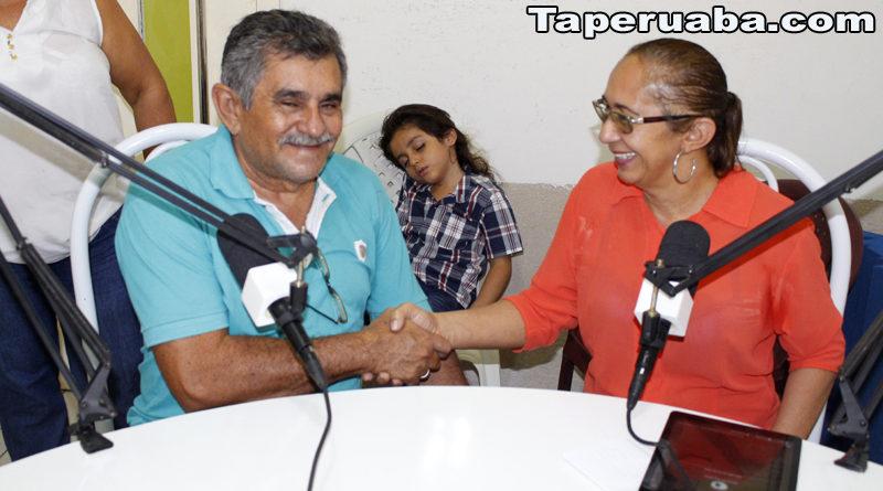Professor Batista visita o Sistema Taperuabense de Comunicação