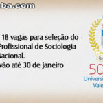 UVA oferta 18 vagas para seleção do Mestrado Profissional de Sociologia em Rede Nacional