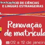 Palácio de Ciências e Línguas Estrangeiras inicia renovação de matrícula para veteranos